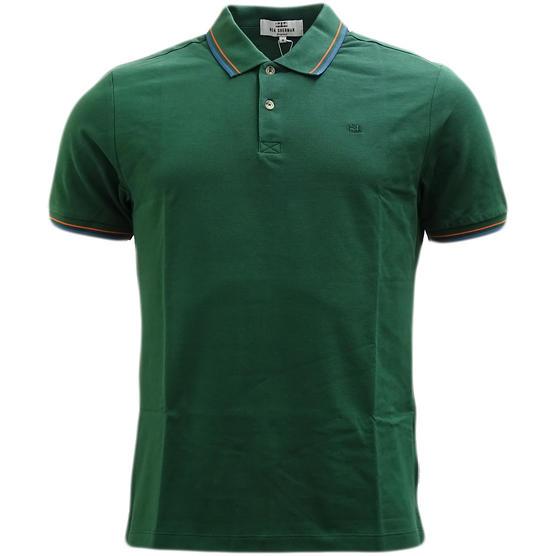 Ben Sherman Twim Tipping Collar Pique Polo Shirt 47811 Thumbnail 4