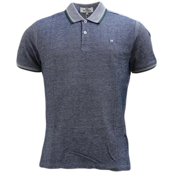 Ben Sherman Twim Tipping Collar Pique Polo Shirt 47811 Thumbnail 5