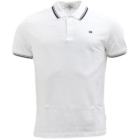 Ben Sherman Twim Tipping Collar Pique Polo Shirt 47811 Thumbnail 6