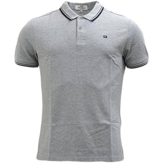 Ben Sherman Twim Tipping Collar Pique Polo Shirt 47811 Thumbnail 7