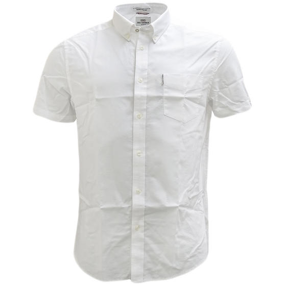 Ben Sherman Plain Button Down Oxford Shirt With Back Pleat  47951 Thumbnail 8