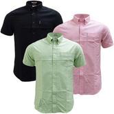 Ben Sherman Plain Button Down Oxford Shirt With Back Pleat  47951