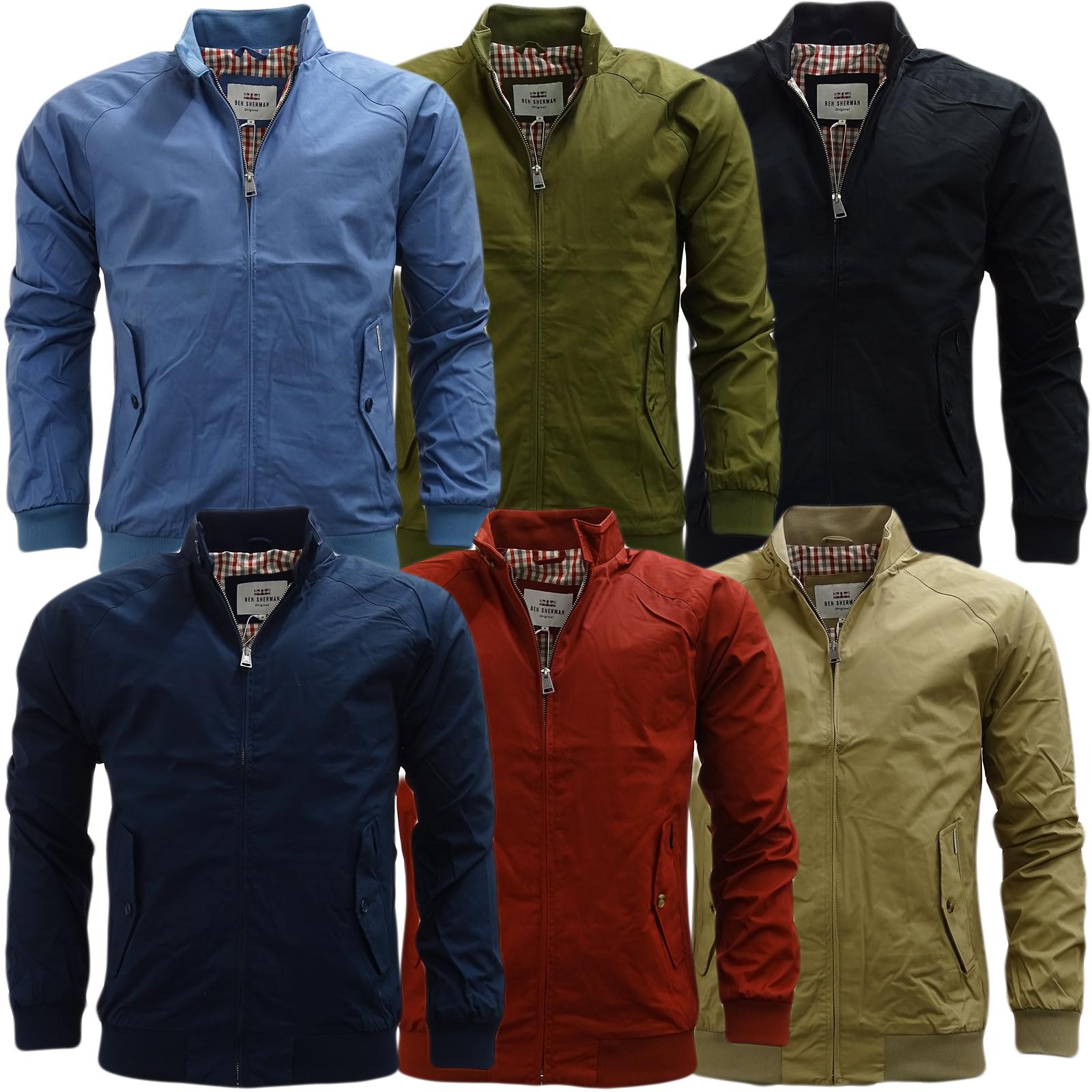 Ben Sherman Lightweight Harrington Coat With Gingham Lining Jacket 47822