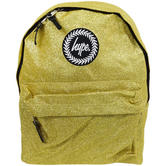 Hype Gold Rucksack / Backpack Bag Glitter
