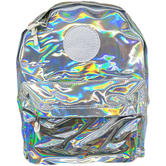 Hype Silver Rucksack / Backpack Bag Holographic 18