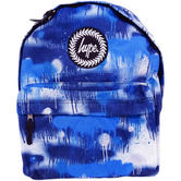 Hype Blue Drip Splatter Rucksack / Backpack Bag Street