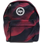 Hype Burgundy Rucksack / Backpack Bag Speckle Worm