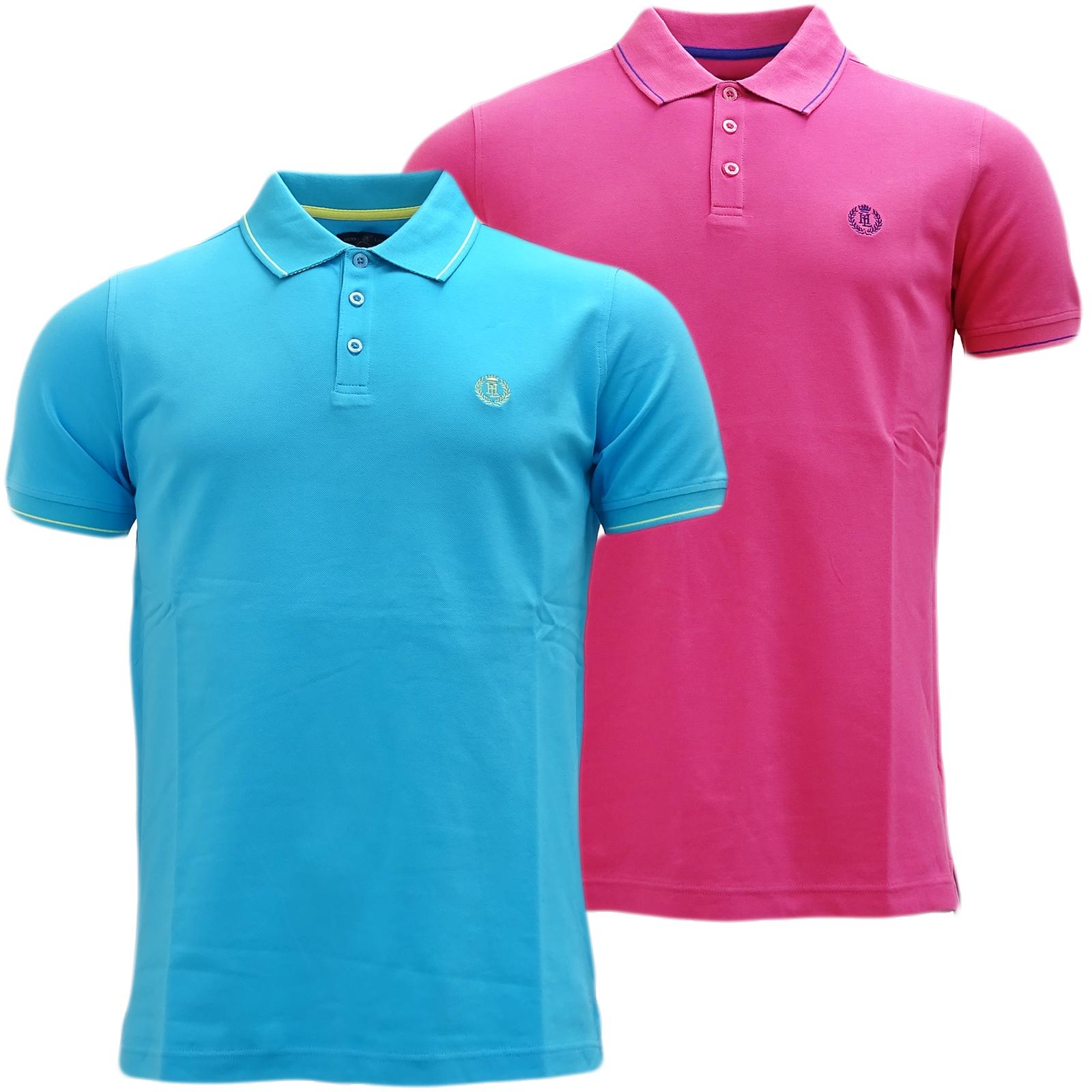 Henri Lloyd Plain Stripe Collar Stretch Polo Shirt Abington