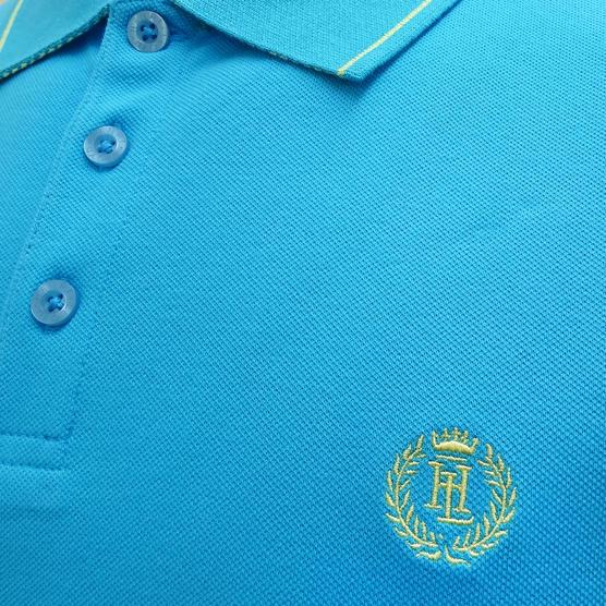 Henri Lloyd Plain Stripe Collar Stretch Polo Shirt Abington Thumbnail 3