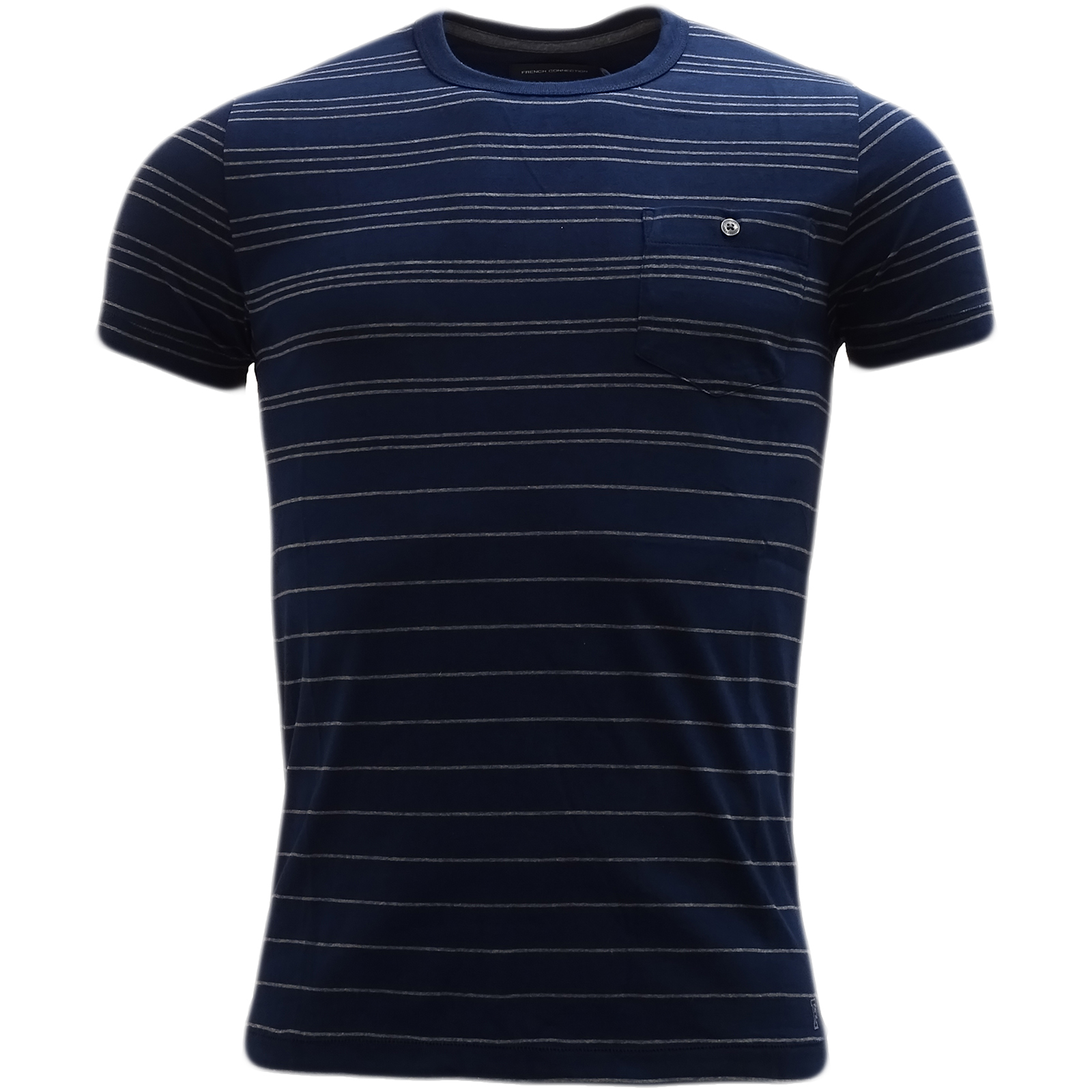 French Connection Navy Stripe T-Shirt 56Szy -