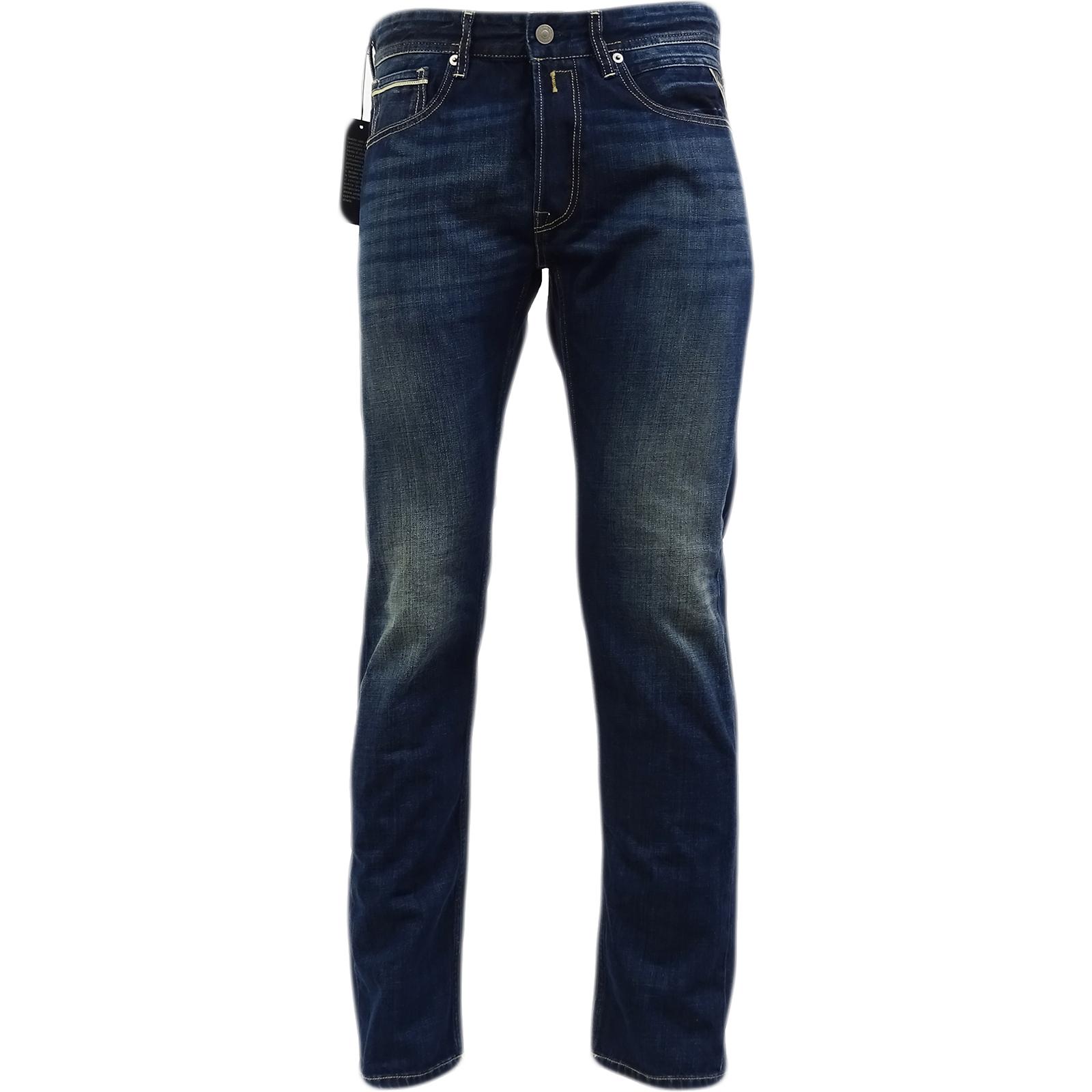 Replay blu Grover Regular Fit Jean Jean Jean - Ma972.606.300.007 1c5d34