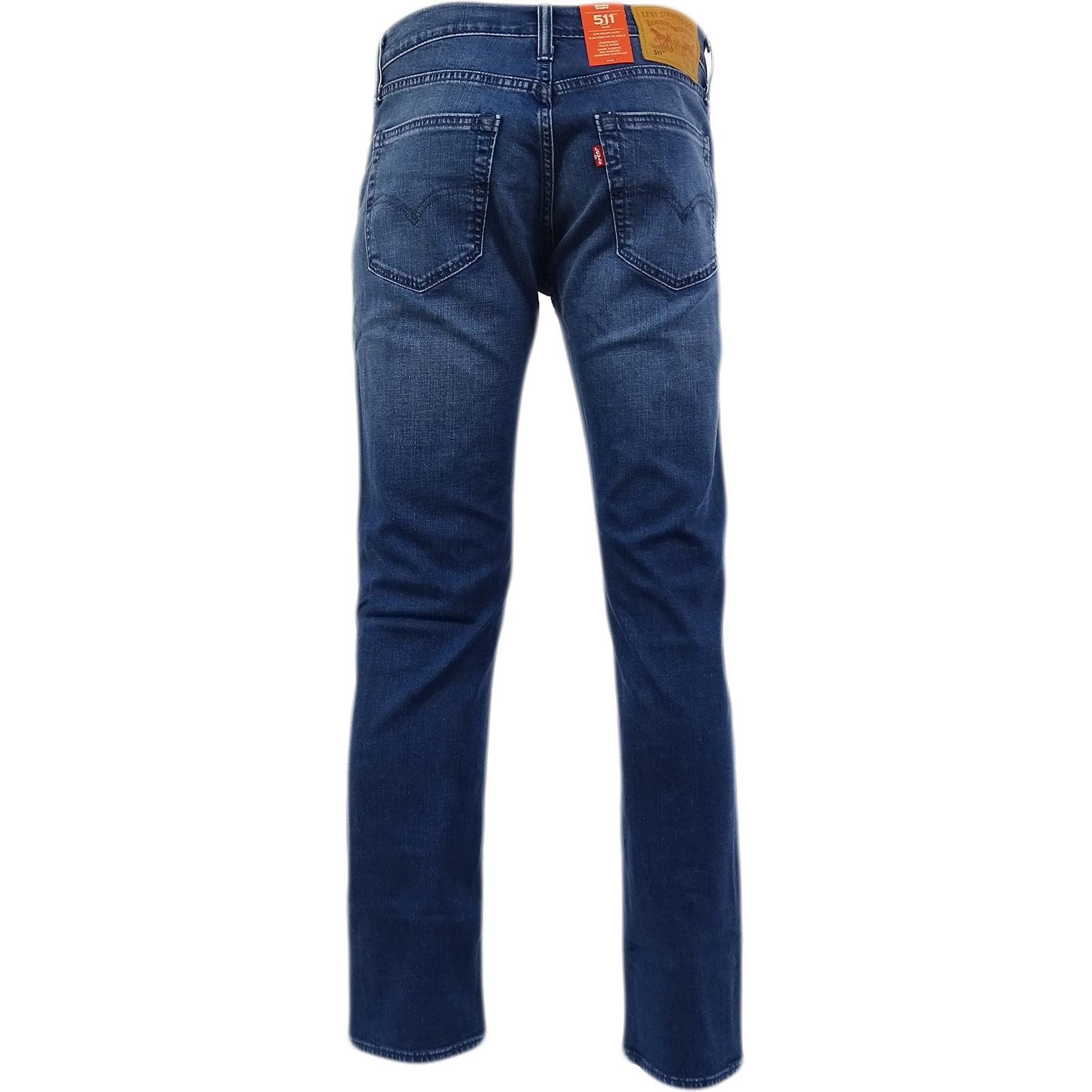 Levi-Strauss-511-pierna-delgada-Jean-ligero-estiramiento-reina-azul-28-48