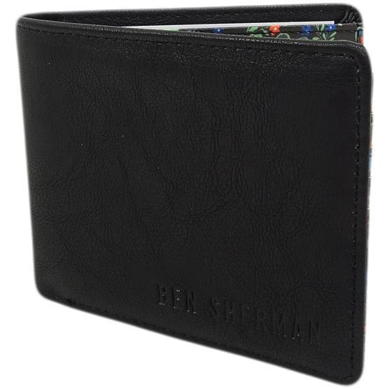 Ben Sherman Black Plain Retro Wallet / Card, Note Holder 11818 Thumbnail 2