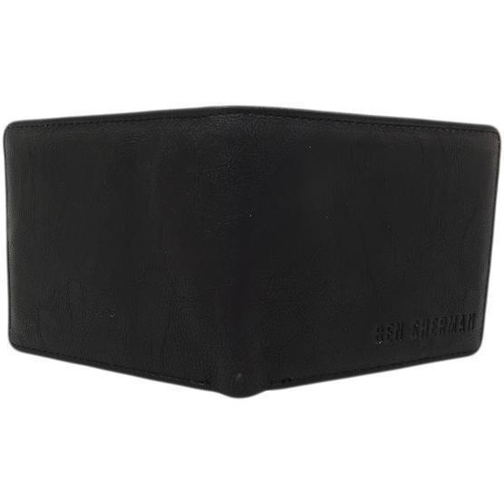 Ben Sherman Black Plain Retro Wallet / Card, Note Holder 11818 Thumbnail 4