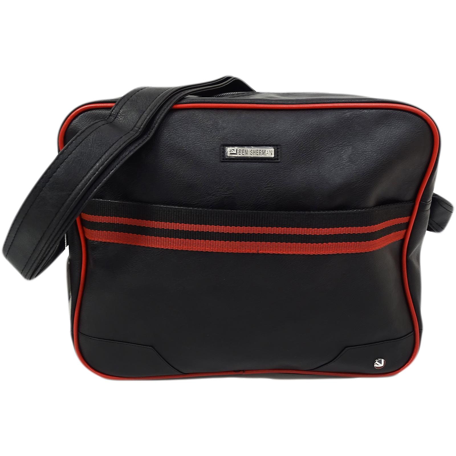 Ben Sherman Black / Red Record / Messenger Bag 11808
