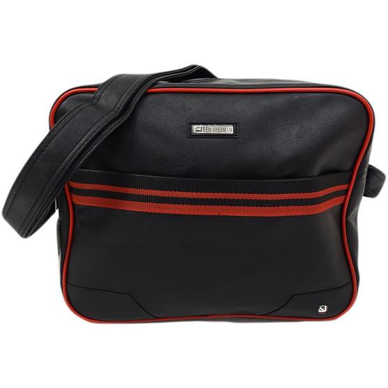 Ben Sherman Black / Red Record / Messenger Bag 11808 Thumbnail 1