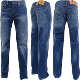 Levi Strauss Cloudy Mid Blue With Fading 514 Straight Leg Jean 09-78 -