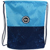 Hype Blue All Over Splatter Drawstring Bag Drawstring Split