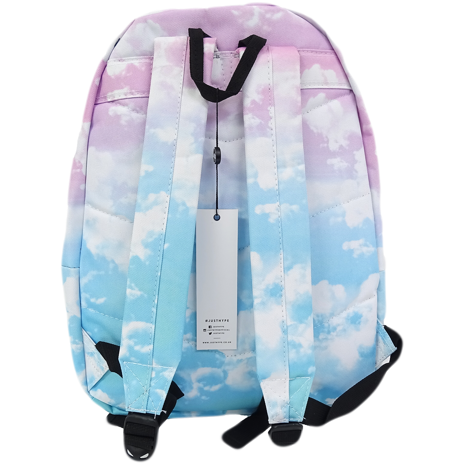 2a7b8bb522 Sentinel Hype Multi Pink And Blue Clouds With Pom Pom Bag - Pastel Clouds 18