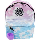 Hype Multi Pink And Blue Clouds With Pom Pom Bag Pastel Clouds 18
