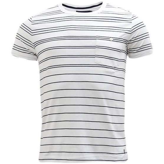 French Connection Thin Stripe With Top Pocket T-Shirt 56Szy Thumbnail 4