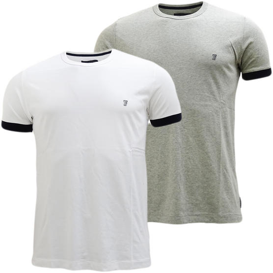 French Connection Plain Tee With Contrast Cuff T-Shirt 56Szz Thumbnail 1