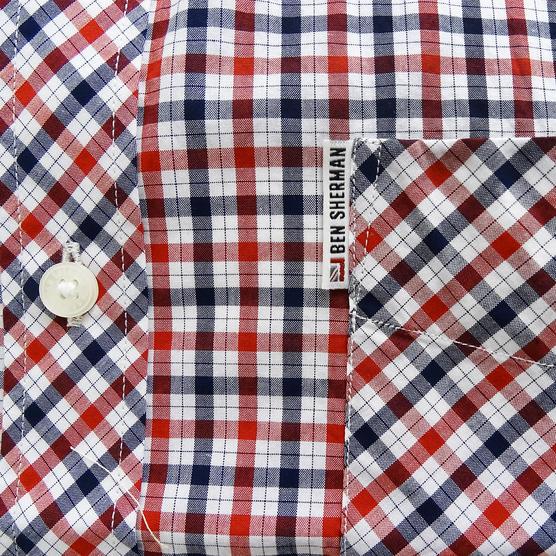 Ben Sherman Button Down Gingham House Check Shirt 47952 Thumbnail 4