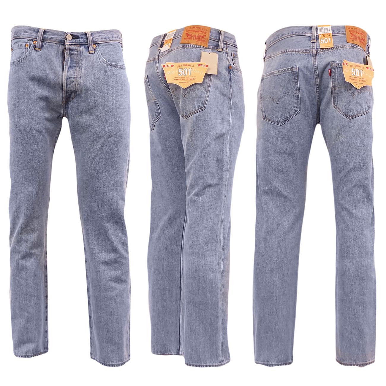 Sentinel Levi 501 Jeans Original Straight Leg Fit Mens Denim Waist 28 30 32  34 36 38 c7e36ada90