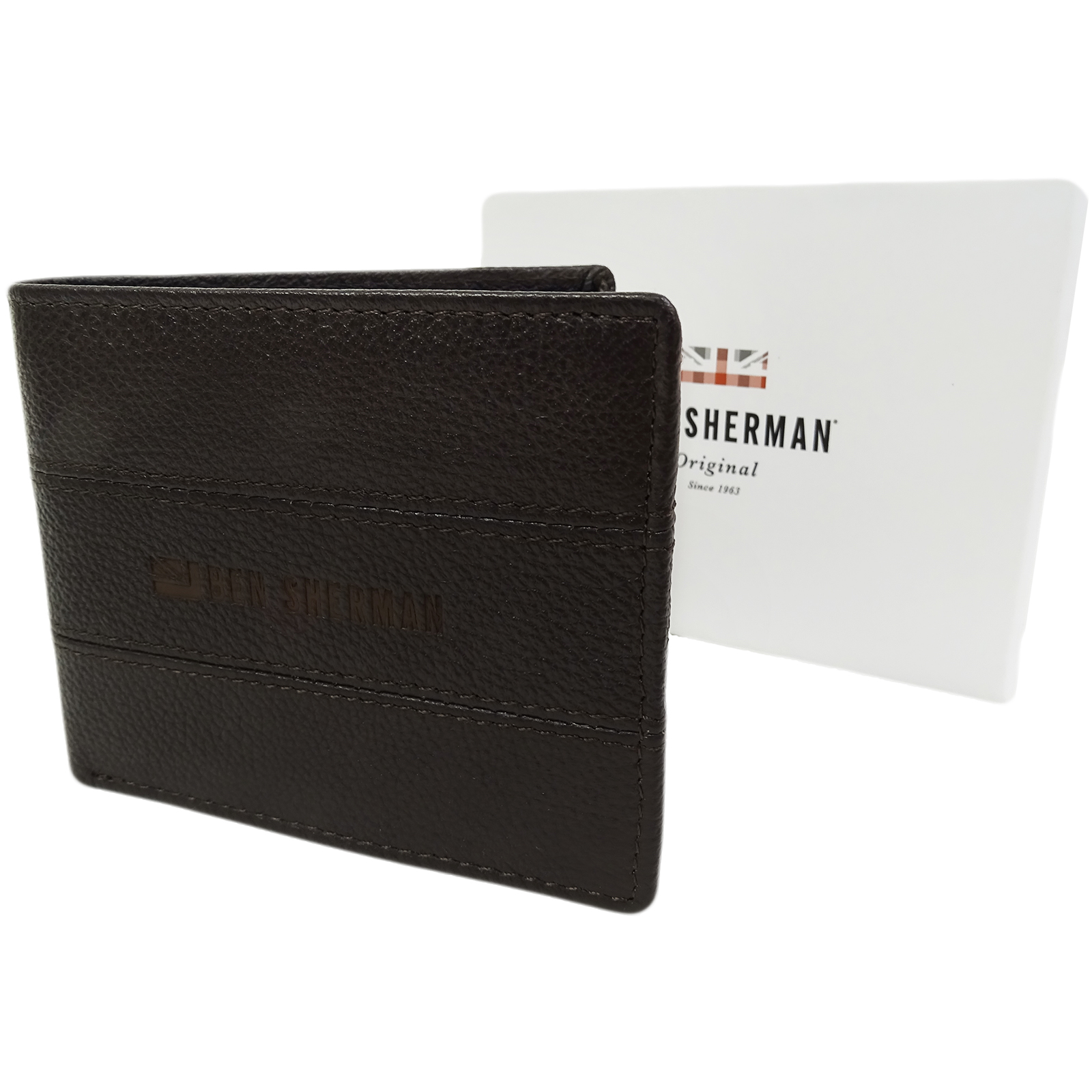 Ben Sherman Brown Leather Wallet - Card And Note Holder  11816
