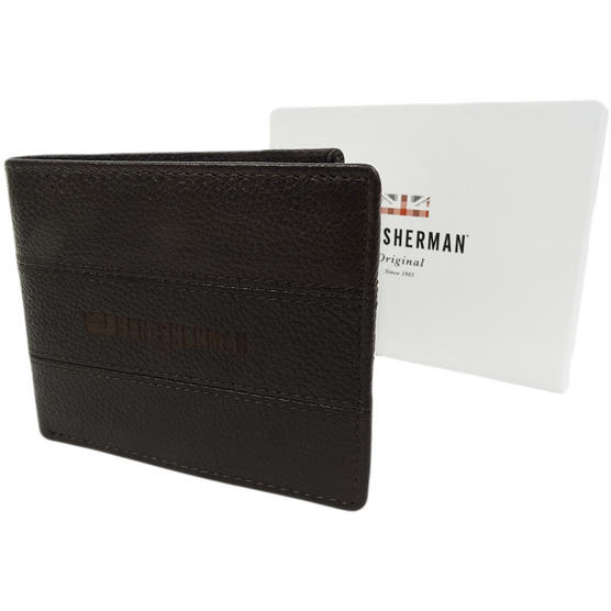Ben Sherman Brown Leather Wallet - Card And Note Holder  11816 Thumbnail 1