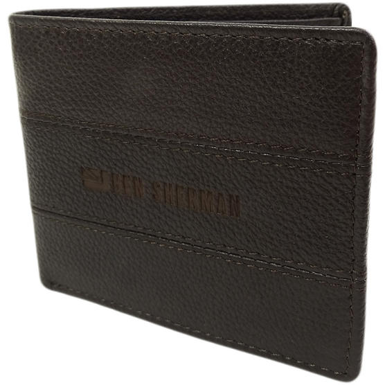 Ben Sherman Brown Leather Wallet - Card And Note Holder  11816 Thumbnail 2