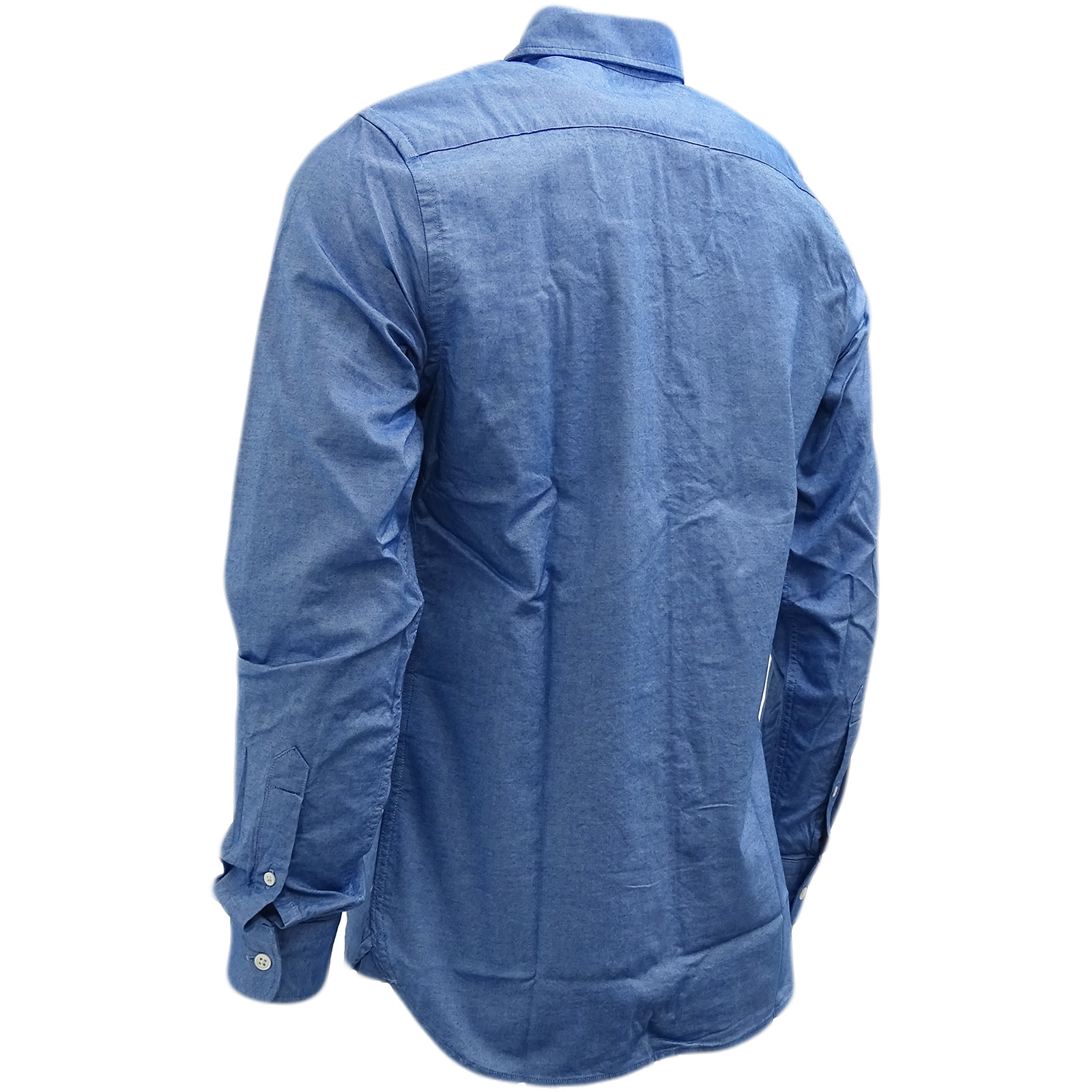 Strauss Shirt True 03 Cotton Blue 37 65824 Levi Plain pOXdwOq