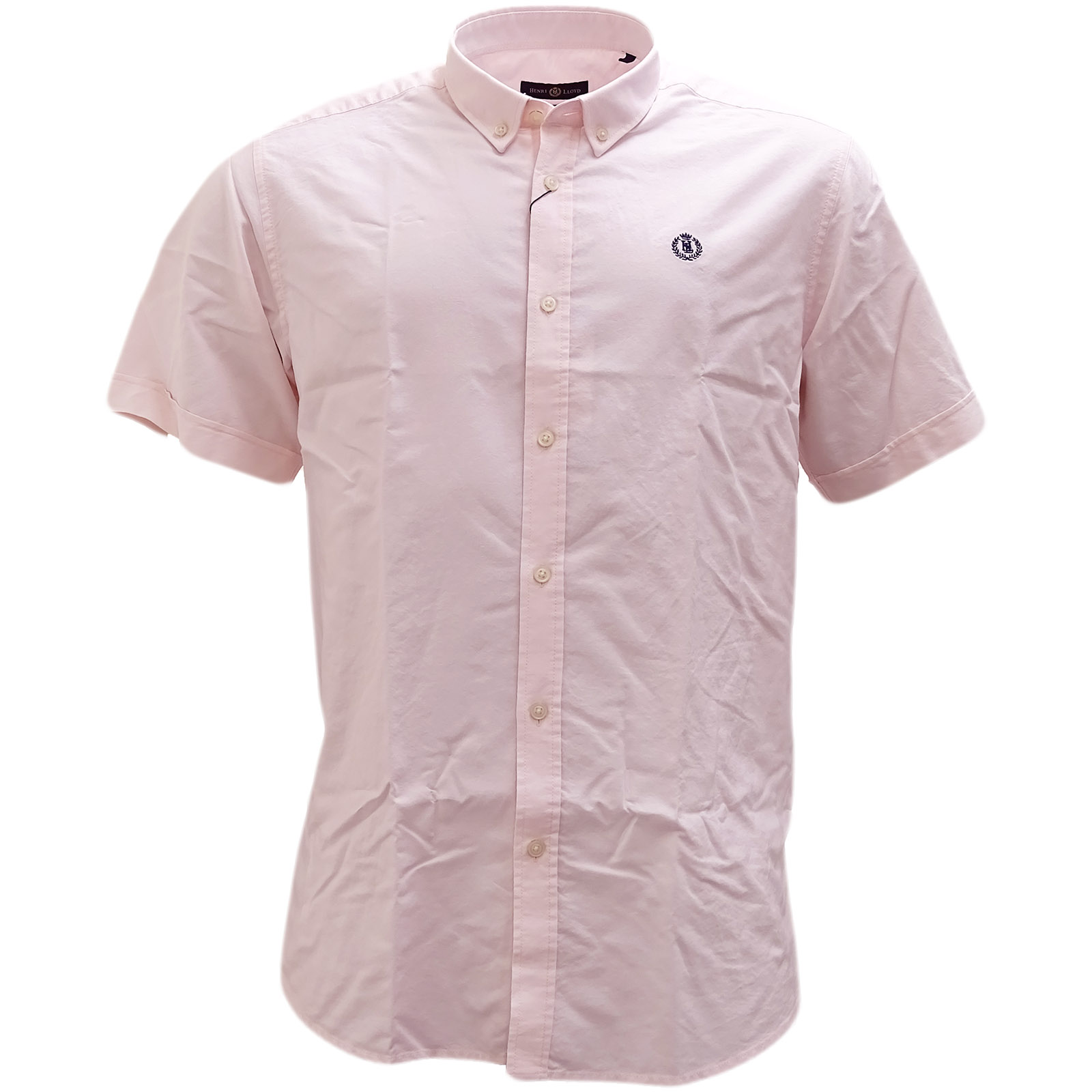 Henri Lloyd Pink Plain Button Down Oxford Shirt Club Ss -