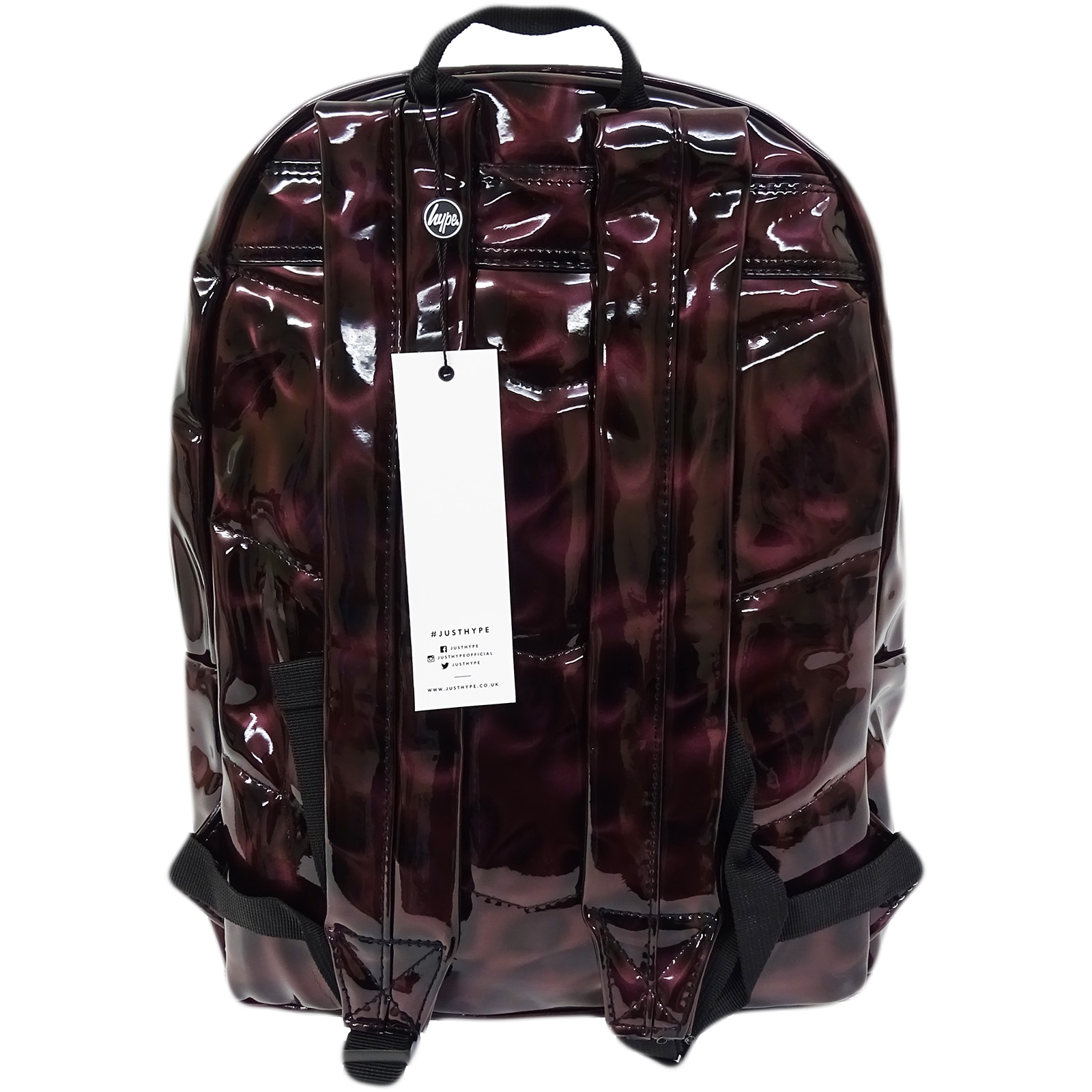 ee242ca6d373 Hype-Backpack-Rucksack-Bag-Black-Burgundy-Speckled-Plain-