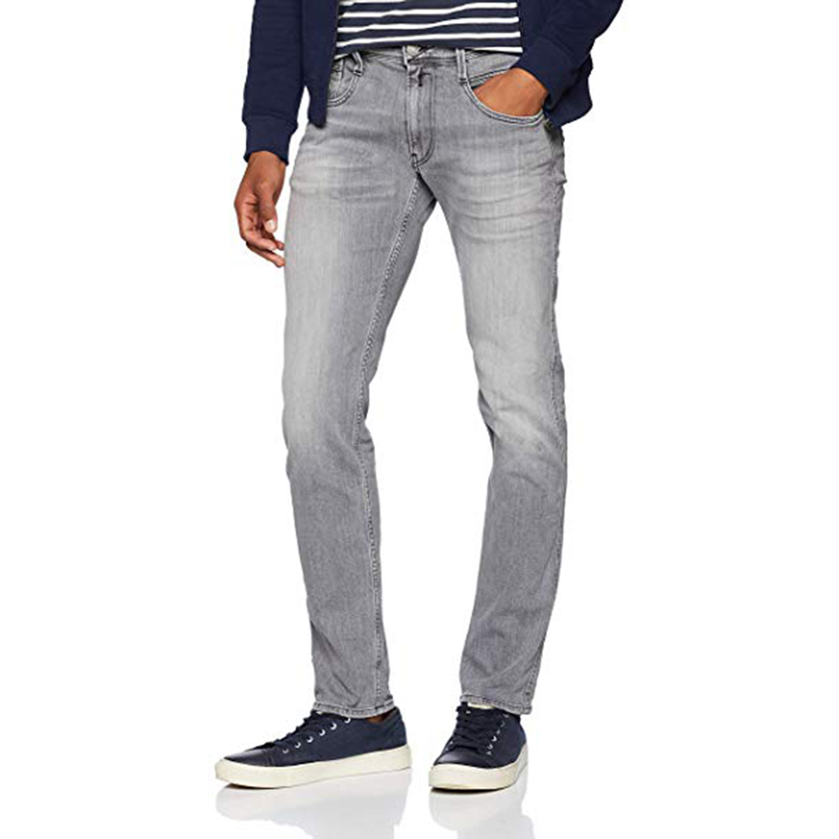 140f1e5e51a Sentinel Thumbnail 1. Sentinel Replay Grey Laserblast Edition Slim Fit Jean  - M914Y-000-573-209-
