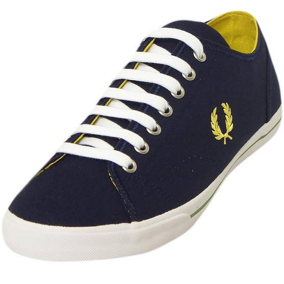 Fred Perry Canvas Trainer Blue Thumbnail 2