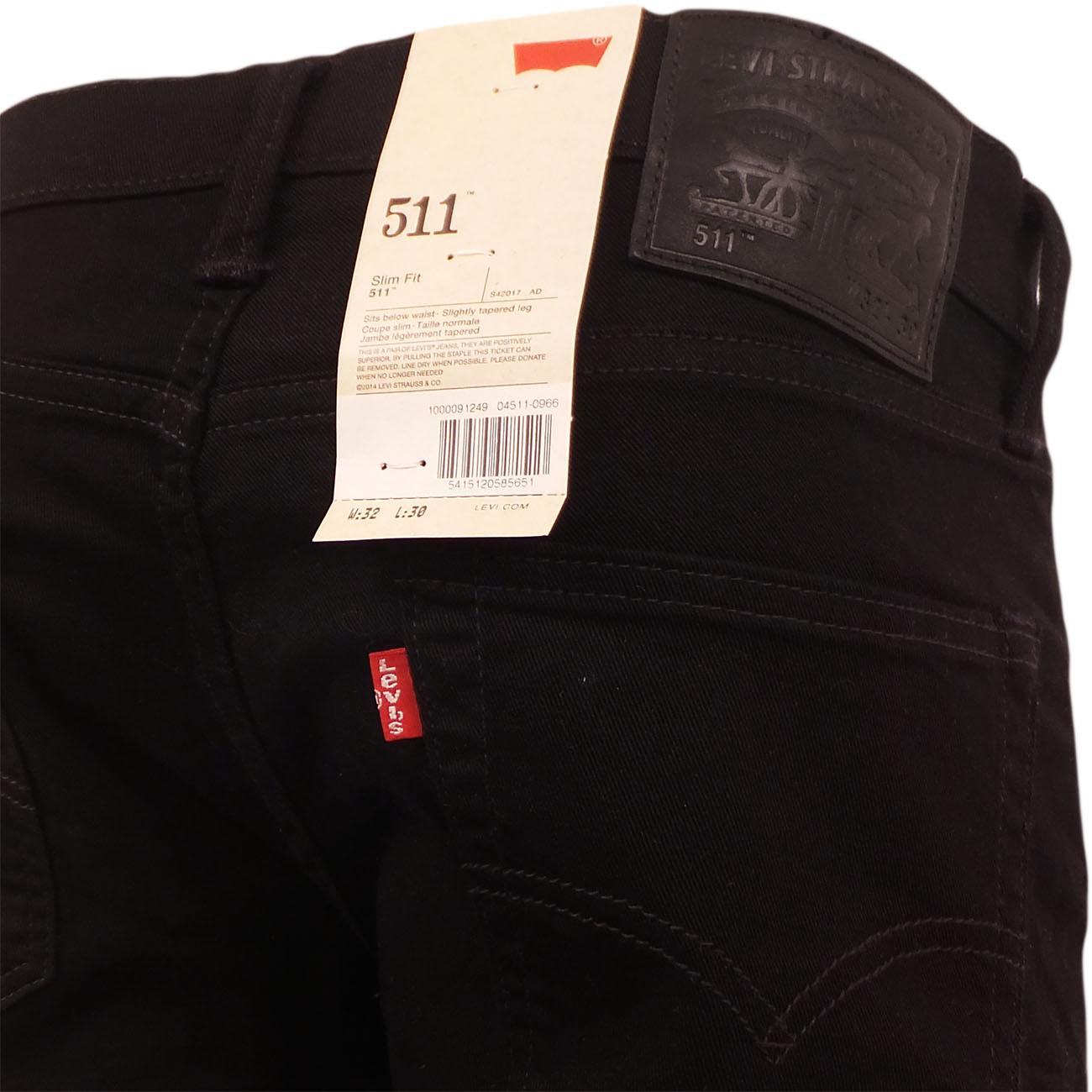 5e2582e0d37c Sentinel Levi's 511 Jean Slim Fit Tapered Leg 'Moonshine' Black 30 32 34 36