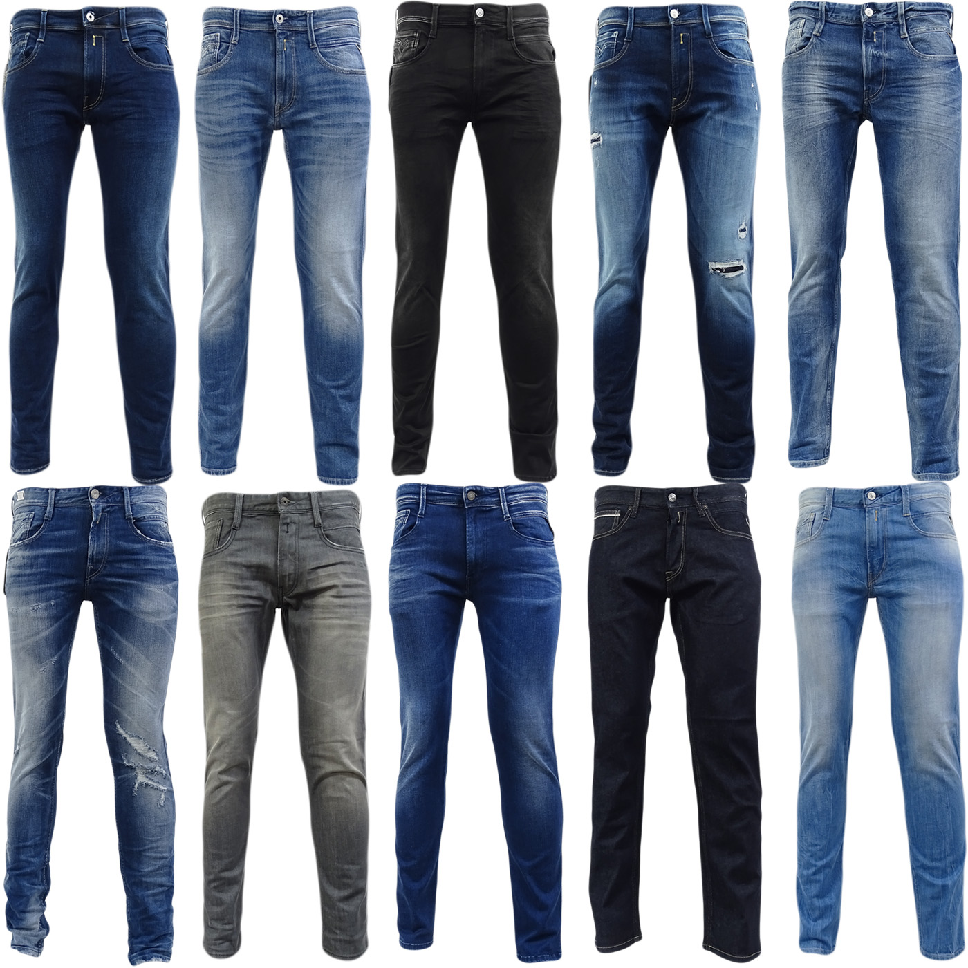 772af64d Sentinel Mens Replay Slim Fit Anbass Jeans - New