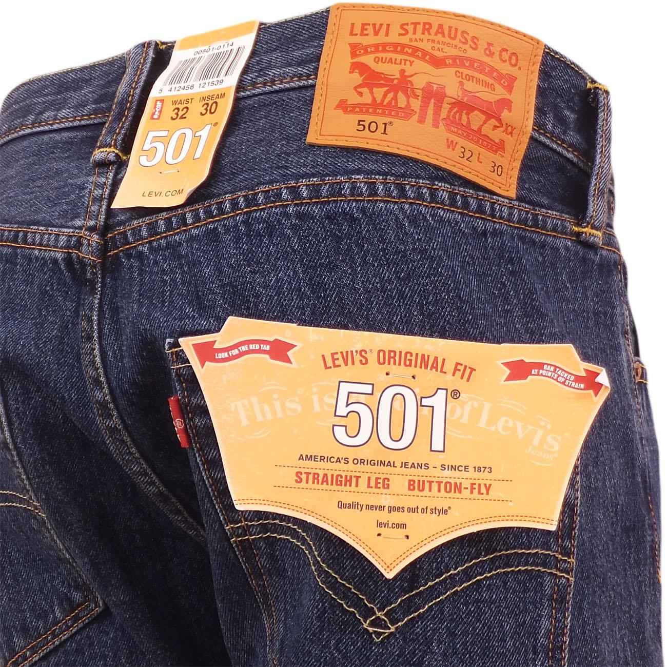 Mediados Strauss Levi's Detalles Ver Jean Original Pantalón Para Azul De Hombre Denim Stonewash Levi 501 Título WD9EHe2IY