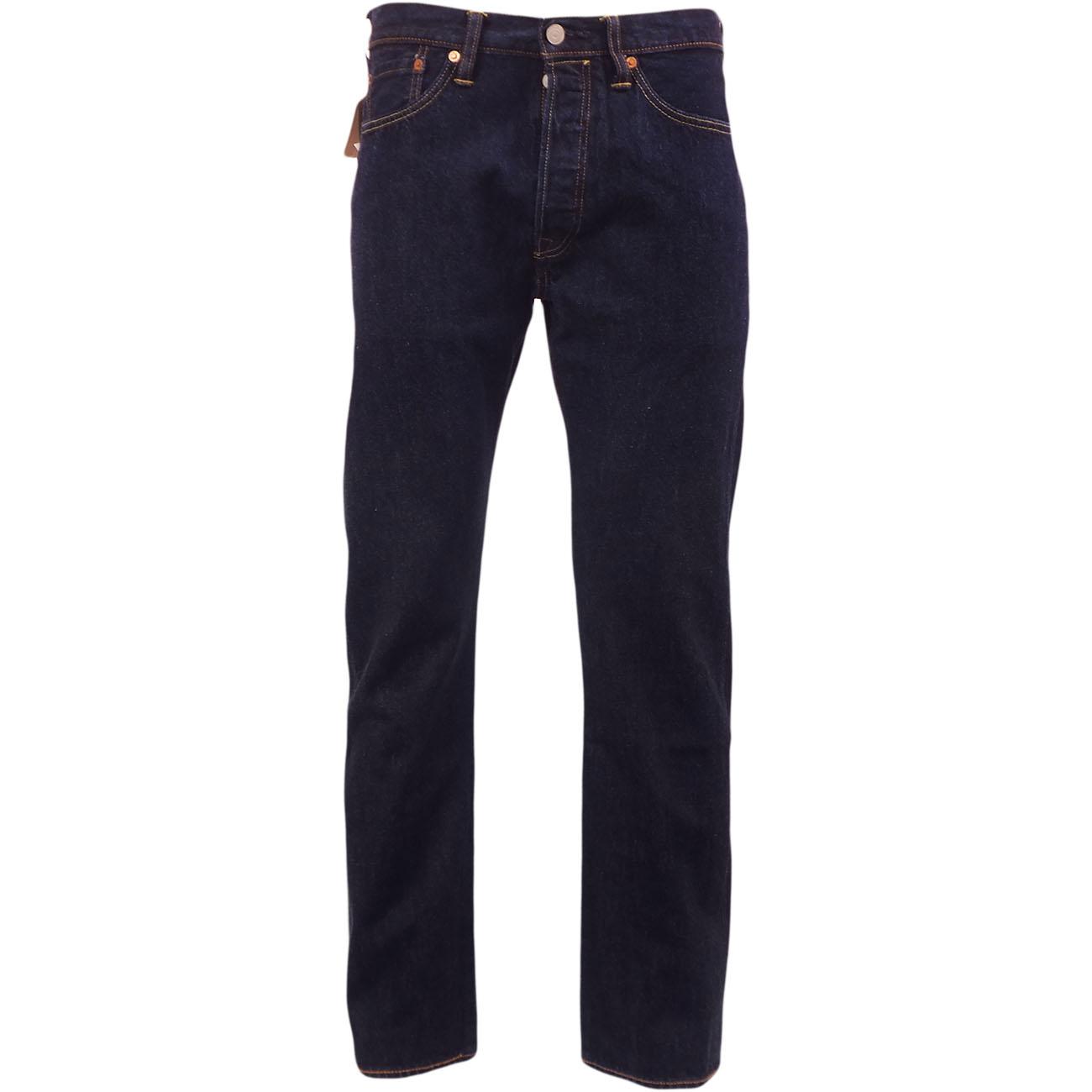 Para-Hombre-Levi-039-s-501-Denim-Jean-un-lavado-Indigo-Azul-Oscuro-Nuevo-Y-Original-Levi-Strauss