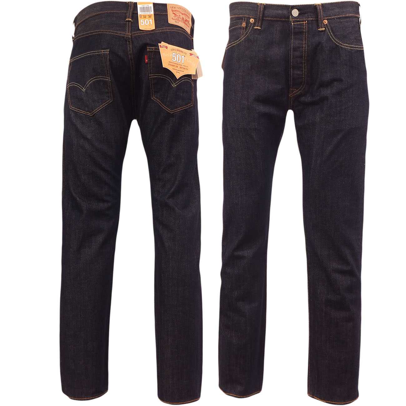 levi strauss 501 straight leg denim jean 39 marlon 39 dark 30 32 34 36 38 ebay. Black Bedroom Furniture Sets. Home Design Ideas