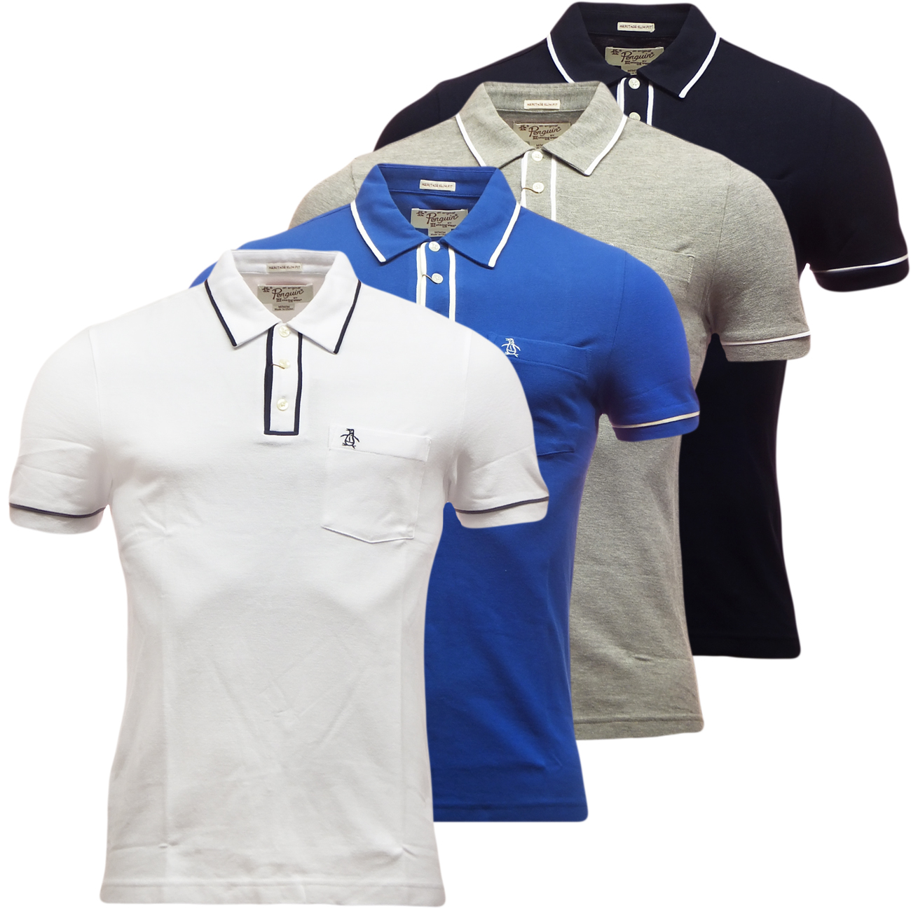 penguin mens earl polo shirt new smart casual polo 39 s new s m l xl ebay. Black Bedroom Furniture Sets. Home Design Ideas