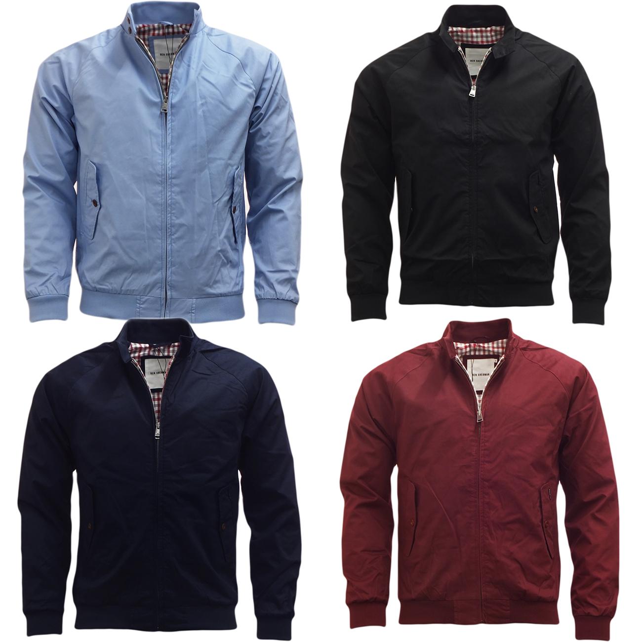 Mens Jacket Ben Sherman Harrington Coat Lightweight Outerwear