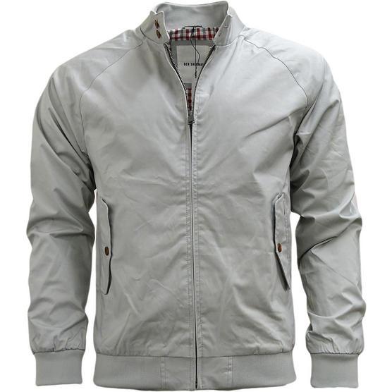 Mens Jacket Ben Sherman Harrington Coat Lightweight Outerwear Thumbnail 8