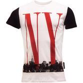 Criminal Damage White T Shirt - NY Skyline