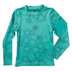 686 Girls Rings Base layer Thermal Top Snowboard Ski Seafoam Age 12