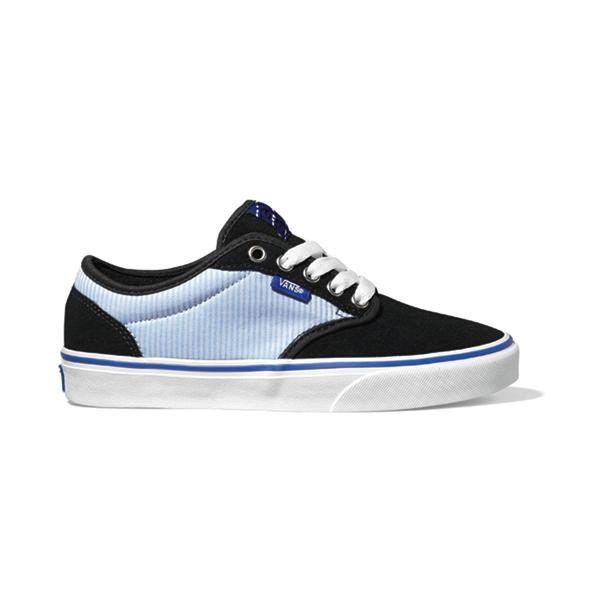 28eeb4d4059261 Vans Atwood Womens Shoe Textile Black Dazzling Blue