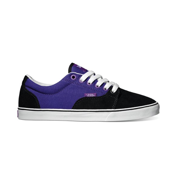 ec7c8b0e333c Vans Kress Womens Shoe Suede Canvas Black Liberty Purple