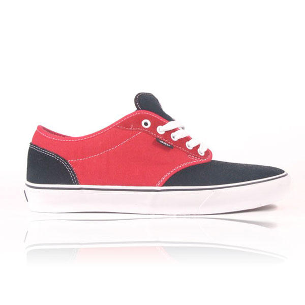 ea1afb2234 Vans Atwood Kids Skate Shoes Black Red