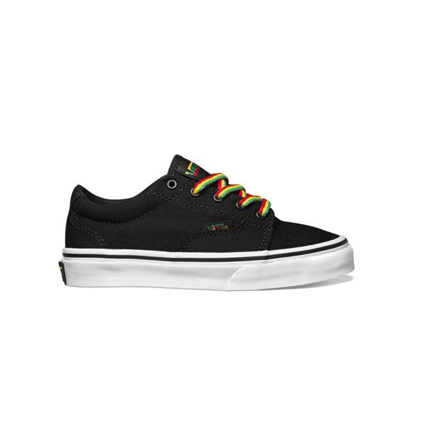 74f903ff8d752b Vans Kress Kids Skate Shoes 2012 Black Rasta